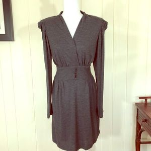 Axara Long Sleeve Gray Dress Size S